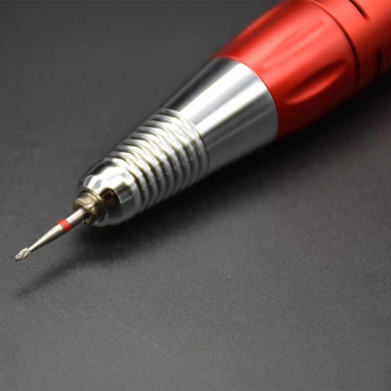 MAOHANG Bor Carbide Nozzle Listrik Nail Bor Bits Mill Cutter Nail Alat Kutikula Bersih Untuk Pedicure Manicure Mesin