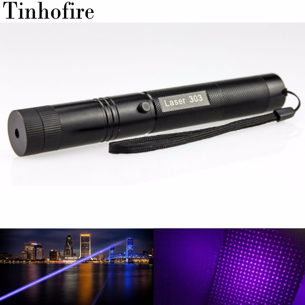 Top Laser 303 5mw Purple 405nm UV Laser Pointer Adjustable Focal Length and with Star Pattern Filter