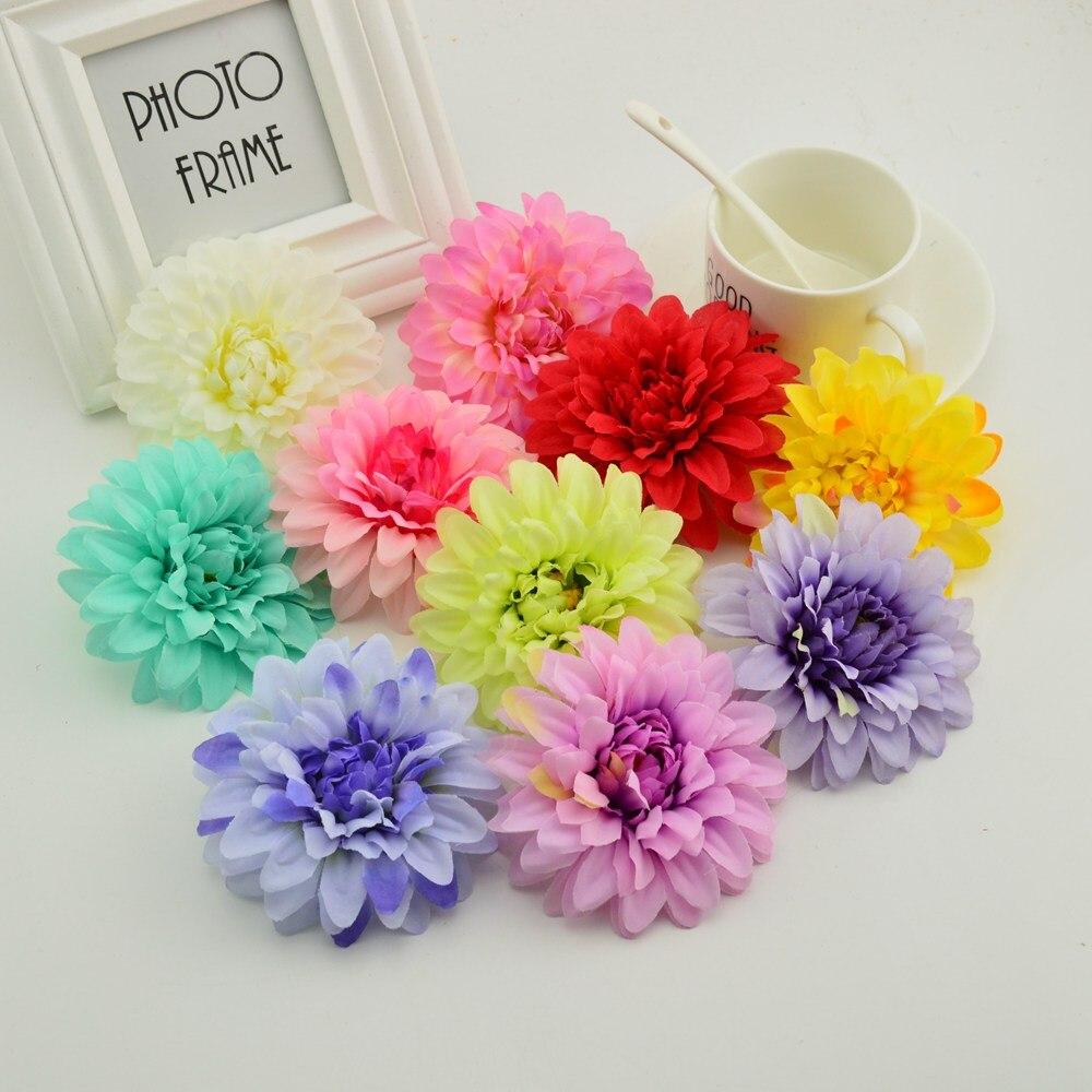 Silk Gerbera Head Weddingu0026 Home Decoration DIY Make Door Wreath Flower Wall  Party Birthday Flowers Cheap