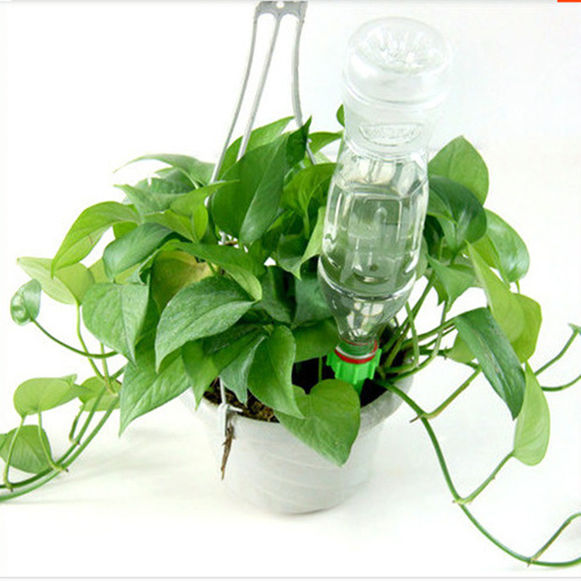 12Pcs/lot Automatic Plant Waterers Drip Irrigation Self-Watering Kits System Indoor Houseplant Garden Plant Watering Device