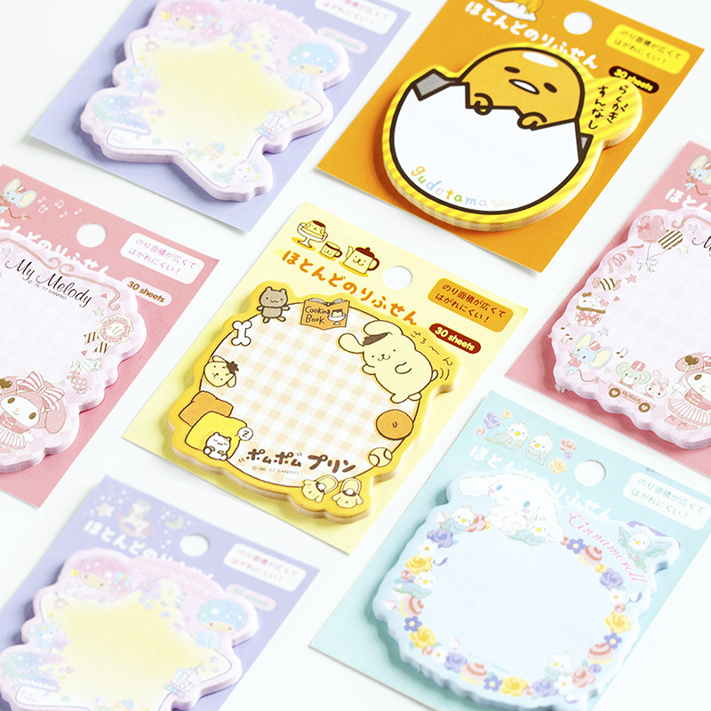 1X Japan's Sanrio Sticky Note Memo Pad Kawaii School Supplies Planner Stickers Paper Bookmarks Korean Stationery