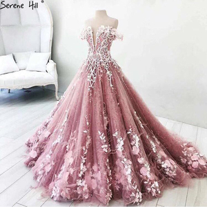 Image 2 - Long Arabic Turkish Pink Lace Formal Evening Prom Party Ball Gown Dress Engagement Abiye Gowns Dresses Avondjurken Gala Jurken