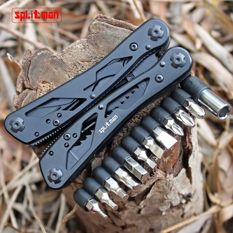все цены на G202B Multi Tools Folding Plier Fishing Camping Outdoor Survival EDC Gear Multitool Pocket Knife Plier Scissors Screwdriver Bits
