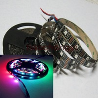 5M WS2801 Black PCB 32LED 5050 RGB Digital LED Strip Individually Addressable DC5V Non Waterproof