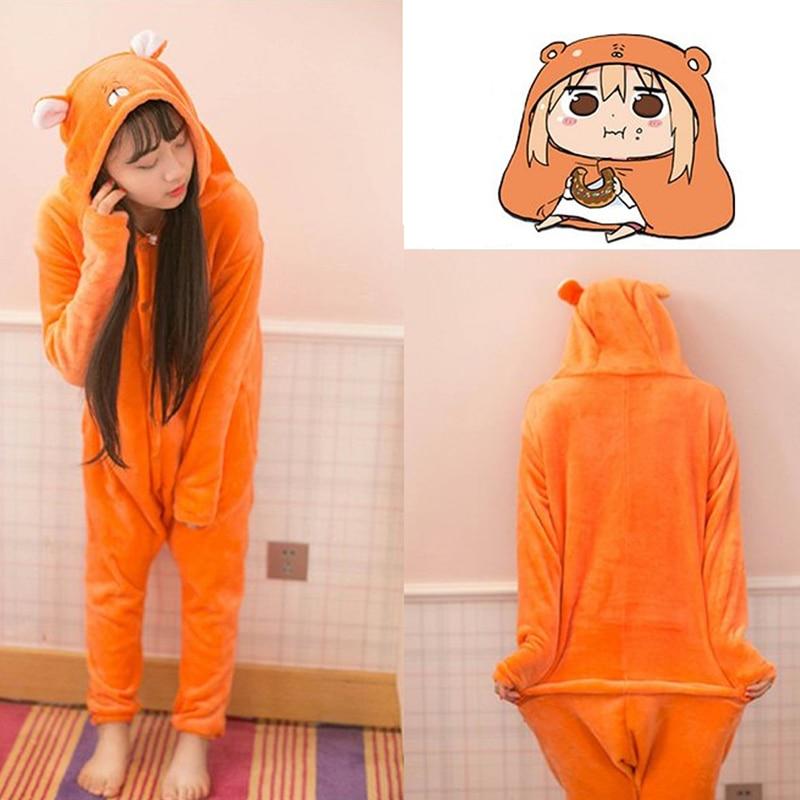 New Anime Himouto Umaru chan Umaru Doma Onesies Cosplay Costume Hamster Woodchuck Sleepwear Cartoon Pajamas Daily Leisure Wear