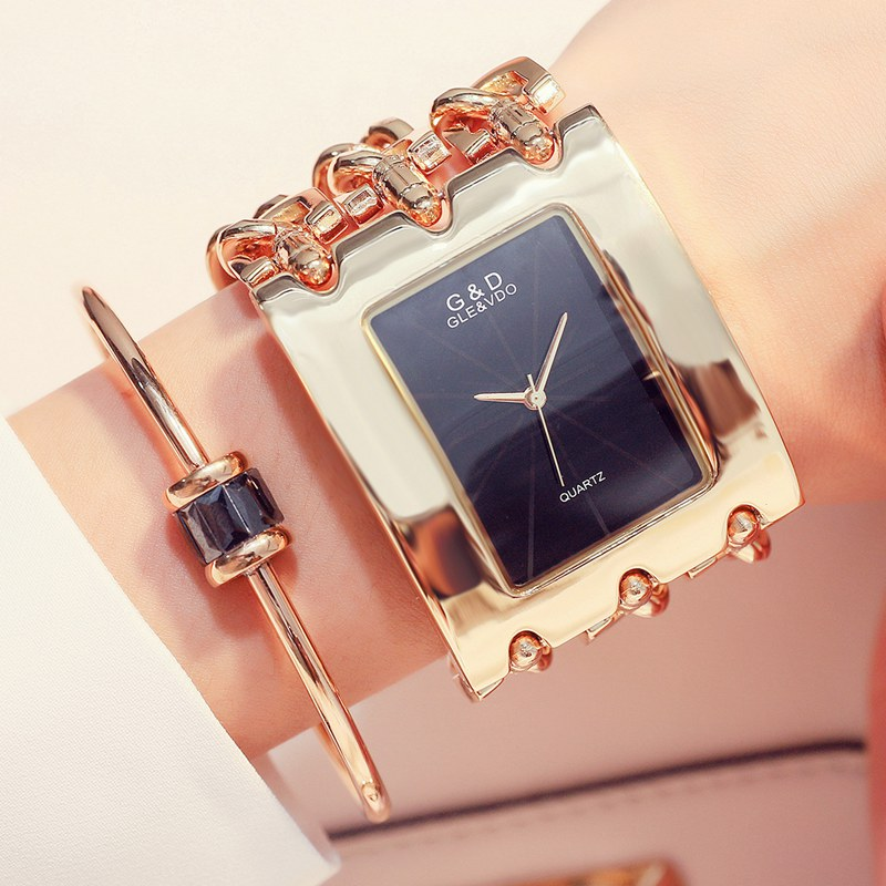 Gold/ Rose Gold / Silver Strap Watch Women Luxury Brand Hot Ladies Wristwatches Full Stainless Steel Rhinestone Quartz Watch