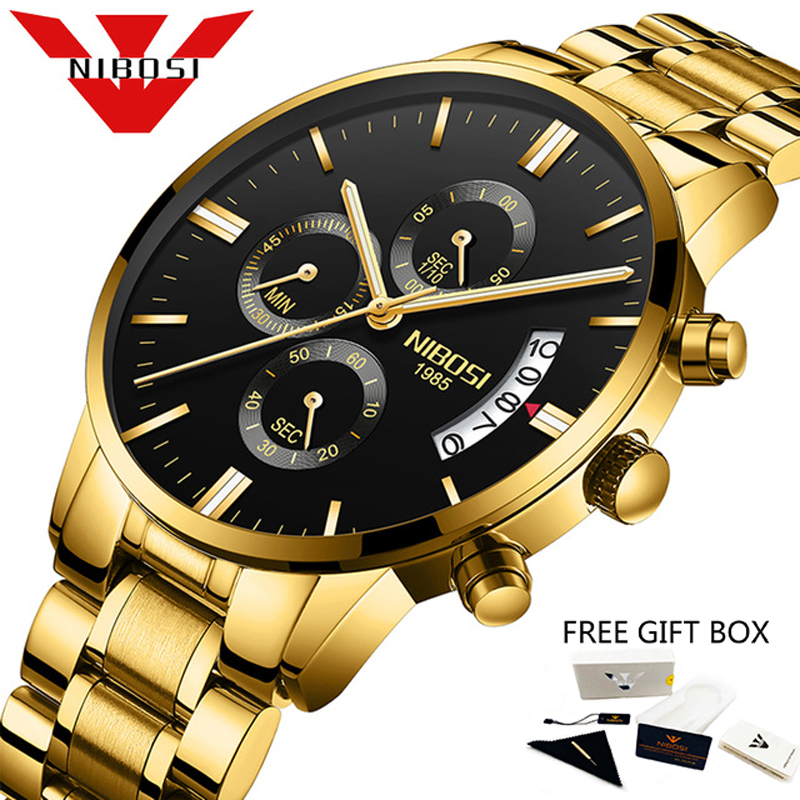 NIBOSI Men Watches Luxury Brand Chronograph Quartz Business Watch Male Clock Dropshipping Wholesale Relogio Masculino