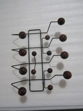 Orzech piłka czarna ramka Edisson domu jak typowe moda cukierki minimalistyczny nowoczesny powiesić go wszystkie wieszak na kurtki hak wieszaki na ubrania tanie tanio Meble do salonu Meble do domu doxa ch-01 Nowoczesne METAL+wood