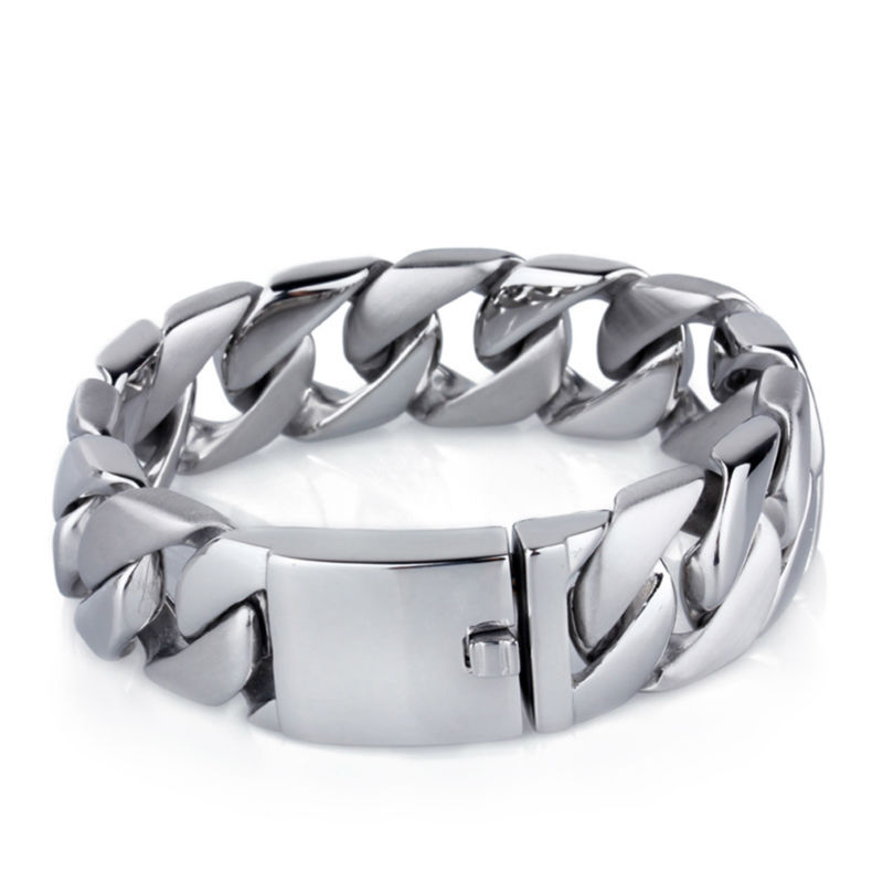 wealth and prosperity two tone half brushed half polishing bangle titanium jewelry bracelet for men