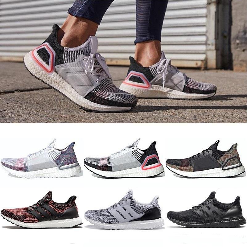 2019 High Quality Ultraboost 19 3.0 4.0 Running Shoes Men Women Ultra Boost 5.0 Runs White Black Athletic Shoes Size 36-47