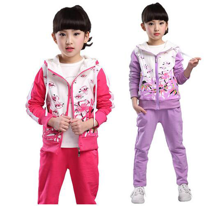 sports suit for girls autumn teenage girls clothing set zipper suit for girls kids children tracksuit sport clothes clothing set girls clothing sets sport suit children jacket kids tracksuit for girls clothes suit children clothes child set