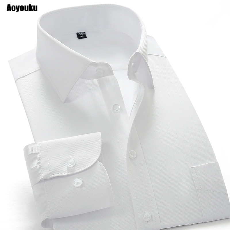 Aoyouku GXW10 10XL Plus størrelse 8XL hvid skjorte Slim Fit mænds langærmet business shirts Høj kvalitet Big Size China Dress shirts