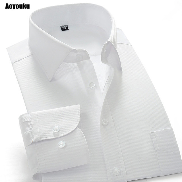 cf7e5ae0d58 Aoyouku GXW10 10XL Plus size 8XL White Shirt Slim Fit Men s Long Sleeve  Business Shirts High