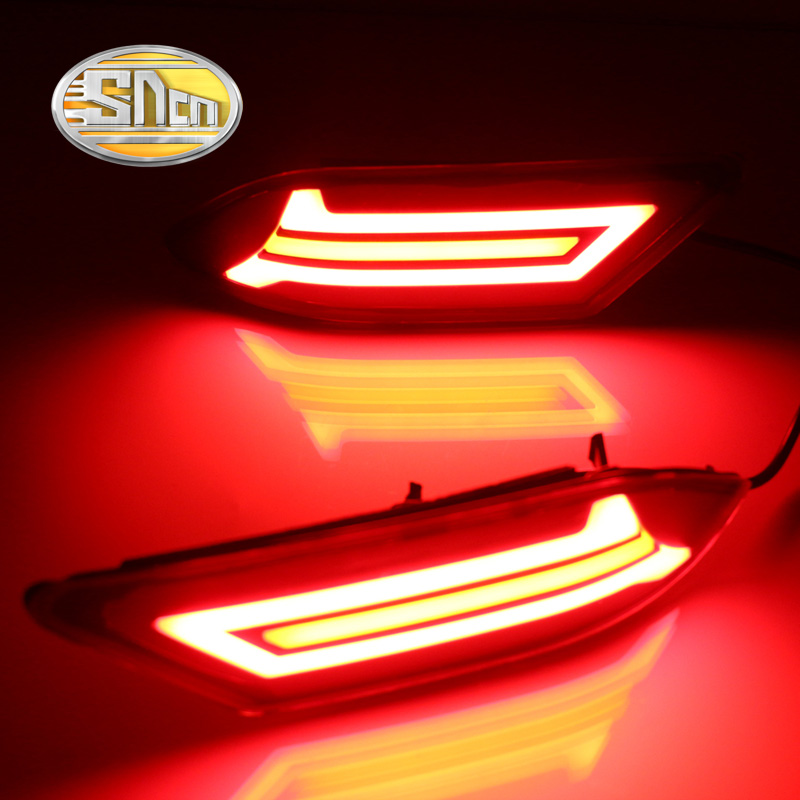 SNCN Multi-function LED Reflector Lamp Rear Fog Lamp Bumper Light Brake Light Turn Signal Light For Nissan Sentra 2016 2017 marumi mc close up 1 55mm