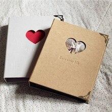 Белый/коричневый/синий 3 кольца Биндер в твердом переплете скрапбук/альбом для фотографий Свадьба юбилей   любовь никогда не подводит