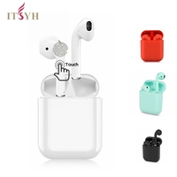 ITSYH Wireless earphone TWS BT 5.0 3D sound Bluetooth earbuds /earphones with charge box Support Siri and Microphone