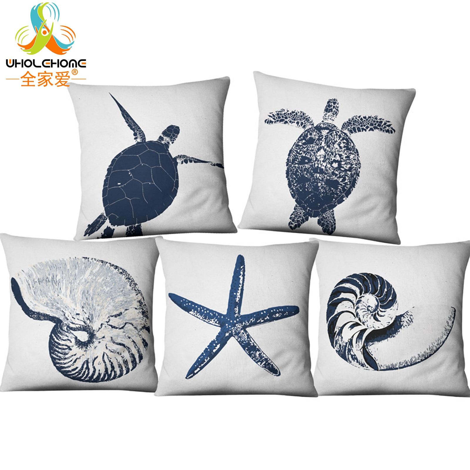 Ocean Sea Animals Pillowslip Throw Pillow Case Cushion Cover Home Decor Supplies