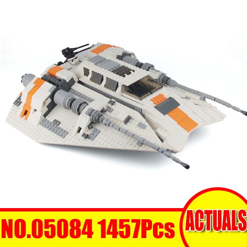 1457Pcs 05084 LEPIN Star Wars Model Building Kits Blocks Bricks UCS The Rebel Snowspeeder Set Toys For Children Compatible 10129 new lepin 16009 1151pcs queen anne s revenge pirates of the caribbean building blocks set compatible legoed with 4195 children