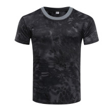 Camouflage T-Shirt Quick Dry Breathable Tights Army Tactical T-shirt Mens Compression T Shirt Fitness Summer Running Outdoor