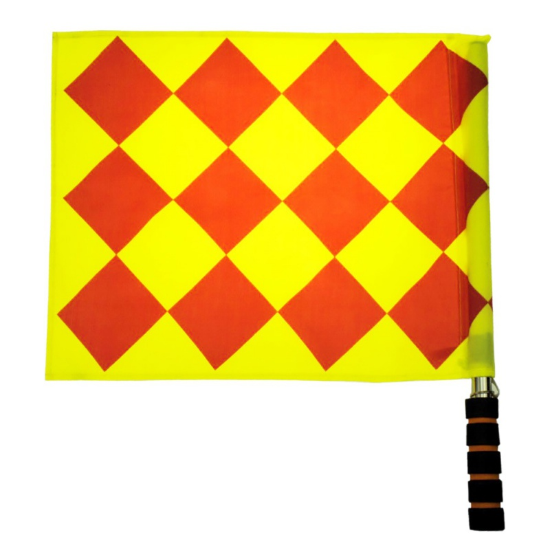 2pcs Football Match Referee Flags Patchwork Waterproof Cloth Stainless Steel Tube  Foam Soccer Accessories