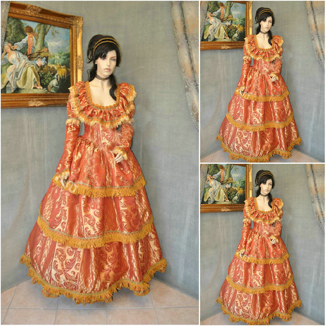 Hot sale! Customer made Vintage Costumes Victorian Dresses 1860s ...