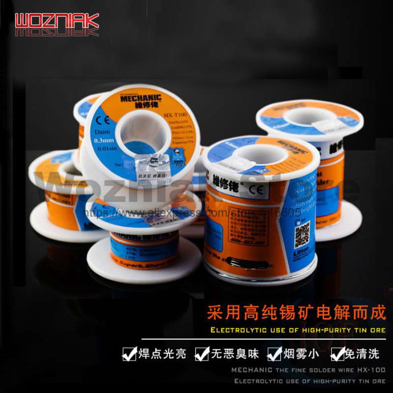 Mechanic Solder Wire 0.2/0.3/0.4/0.5/0.6/0.8/1.0mm/1.2mm Clean Rosin Core Welding Tin Lead Solder Iron Wire Reel Soldering Tools 500g 0 5 0 6 0 8 1 0mm tin lead soldering wire solder wire weld accessory