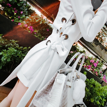 V-neck split bind white dress suit women shorts two-piece outfit