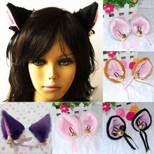 Terbaru 6 Warna Fashion Xmas Pesta Halloween Animer Cosplay Kostum Torba Kucing Fox Telinga Aksesoris Pesta(China)