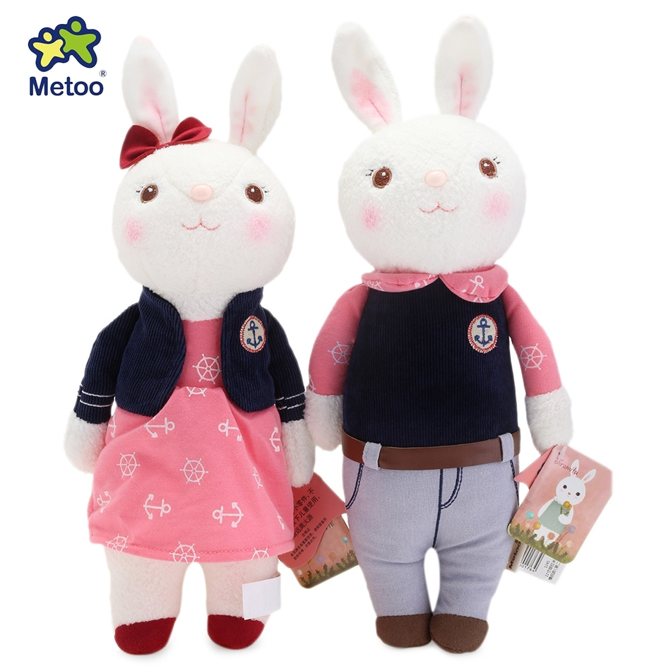 29x14cm 2pcs New Soft Cotton Metoo Tiramitu Stuffed Cute Bunny Plush Rabbit Doll Toy Birthday Christmas Gift Car Bag Decoration stuffed animal 44 cm plush standing cow toy simulation dairy cattle doll great gift w501