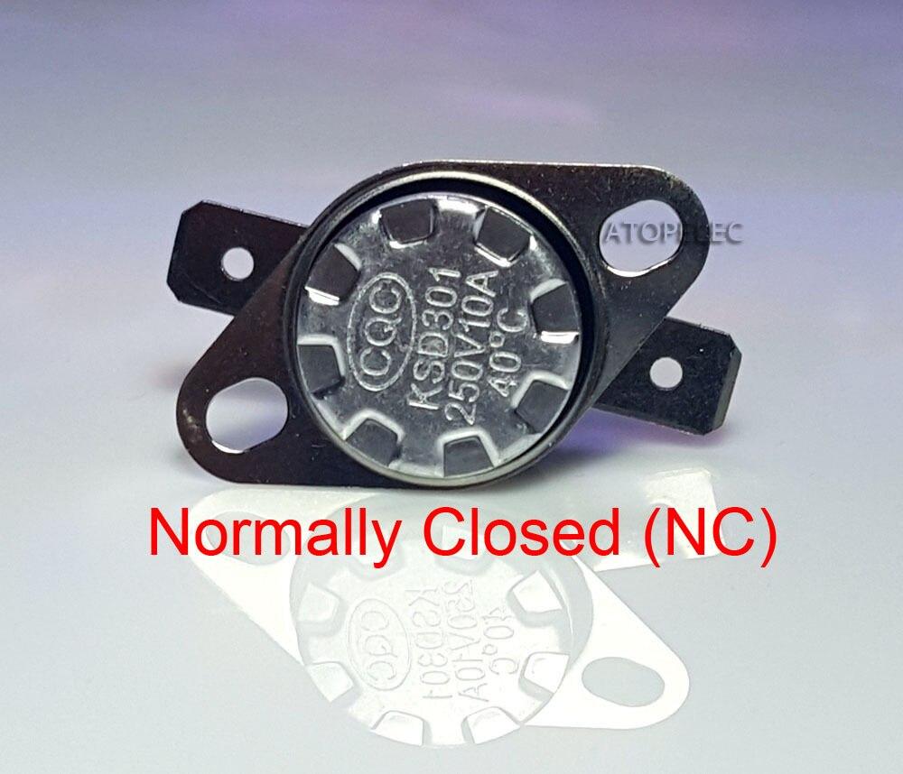 KSD301 250V 10A нормально закрытый NC термостат температурный переключатель контроля Deg. C 85 90 95 100 105 110 120 130 140 150 180