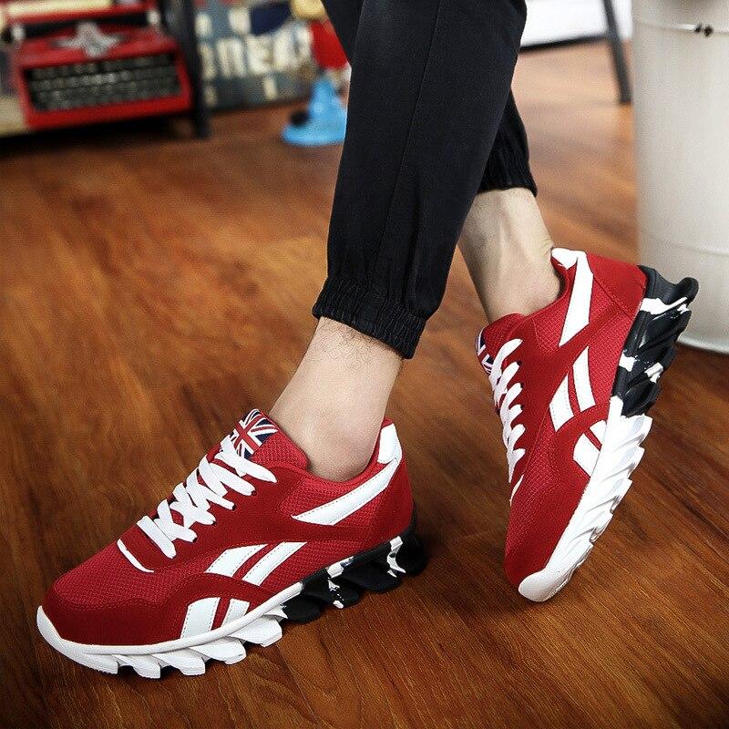 dc3cc297f170c1 Automne Lace Chaussures rouge Mode Jookrrix Marque Blanche 2018 Noir  Sneaker Uomo Respirant Up Chaud Chaussure ...