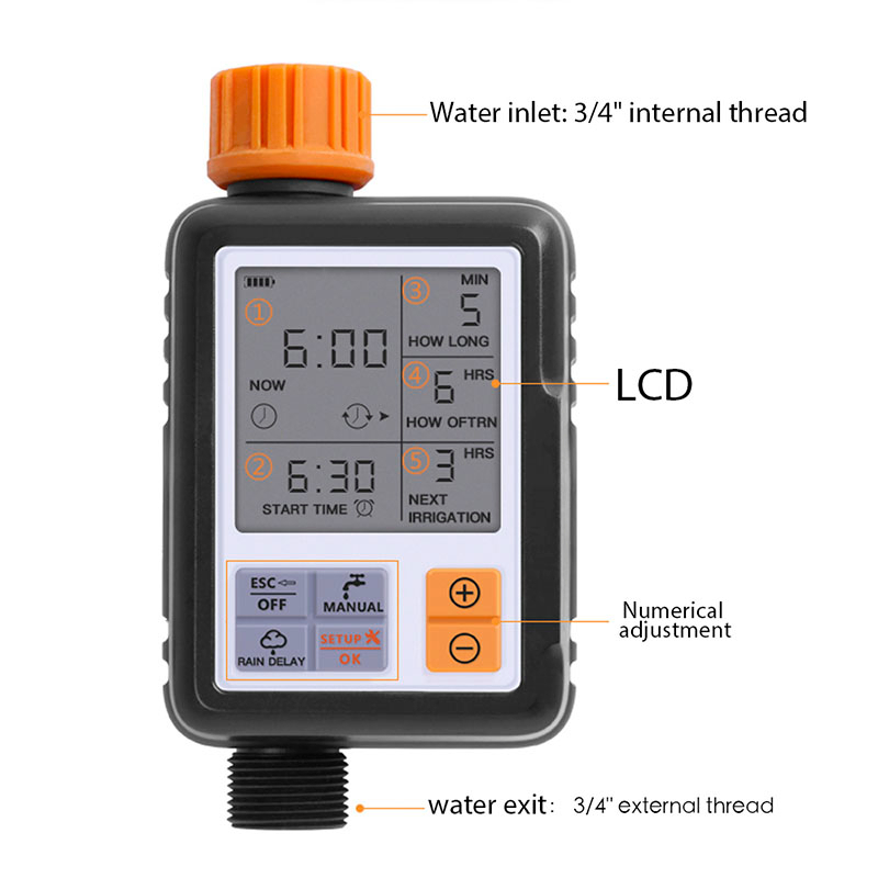 Automatic Electronic Garden Water Timers With Lcd Screen Sprinkler Controller For Outdoor Garden 1