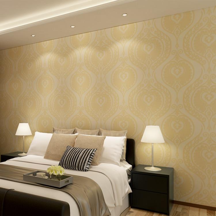 ФОТО Damascus Wallpaper Orange Wall Coverings Bedding Room Wallpaper Living Room Removable Home Decor QZ0431