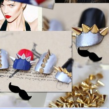 100pcs Nail Art 3D Alloy Phone Rhinestone Metal Cone Bullet Spike Studs Rivet Craft Manicure Decorations