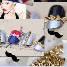 100pcs Nail Art 3D Alloy Phone Rhinestone Metal Cone Bullet Spike Studs Rivet Craft Manicure Decorations Nail Art Jewelry