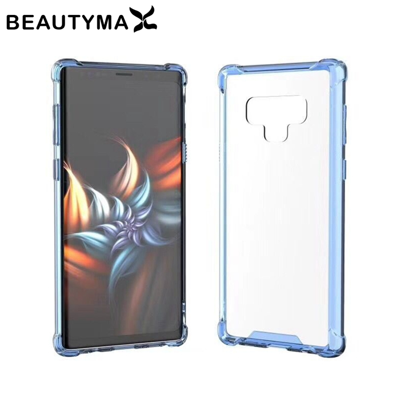Note 9 Case for Samsung Galaxy Note 9 Clear Case for Samsung Galaxy s9 Airbag Shockproof Cover S9 Plus Hard PC Acrylic+ Soft TPU