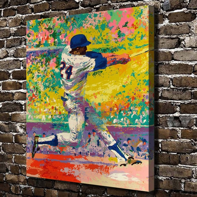 A1903 LeRoy Neiman Colorful Abstract Athletes Figure,HD Canvas Print ...