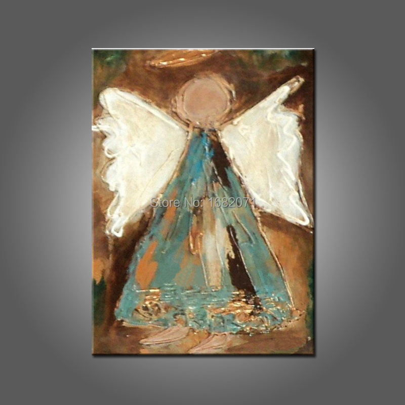 Artist hand painted high quality modern abstract angel oil painting on canvas abstract angel - Decorative painting artists ...