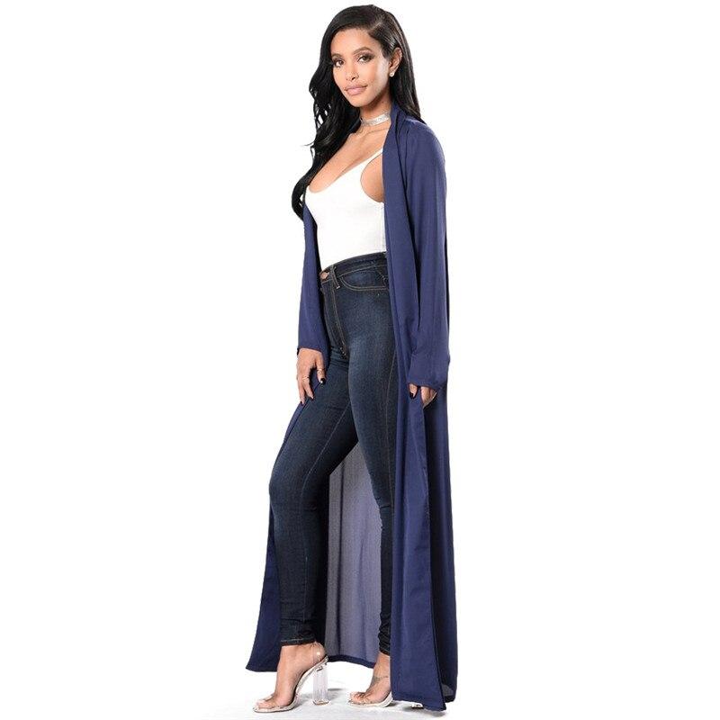 S M L XL Women Long Chiffon Kimono Cape Cardigan Long Chiffon Kimono Shirts Jackets Long Beach Cover Up Tops blusa femin