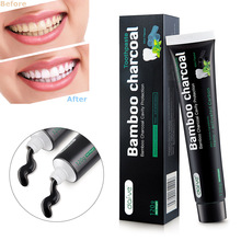 лучшая цена NEW Activated Charcoal Teeth Whitening Toothpaste Natural Black Mint Flavor Herbal 120g