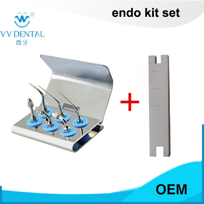 EMS Woodpecker Style dental scaler endo tip kit EEKS endodontic instrument and key wrench fit SYBRONENDO endodontic instrument dental material endo apex locator root canal finder testing cord files fit j2
