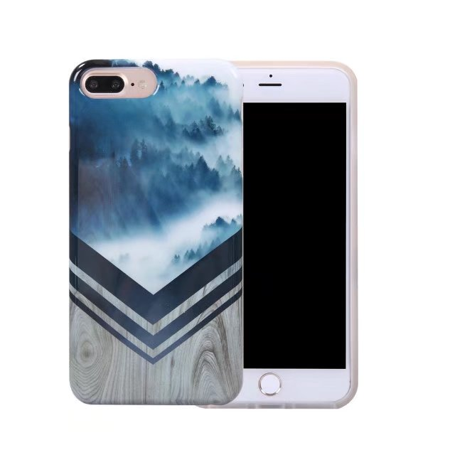 Graceful Marble Cloud forest TPU design case For iPhone 7 Plus / iPhone 8 Plus