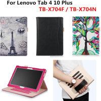 PU Leather Cover Stand Handheld Case For Lenovo Tab4 TAB 4 10 Plus TB X704F TB