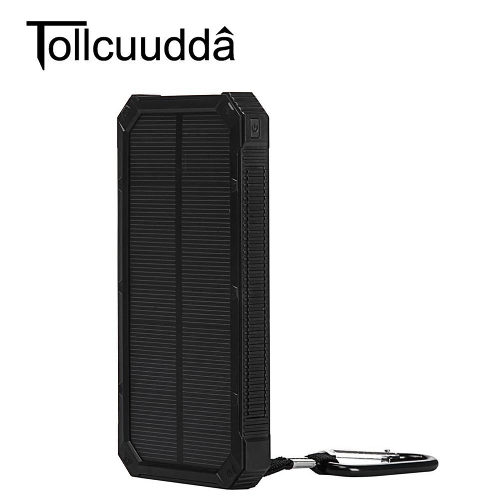 Tollcuudda Protable 10000 mAH External Banco de la Energía Solar Cargador de Bat