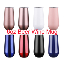 Swig Wine Cup Champagne Beer 6oz 9oz With Lids Termos Coffee Drink Stainless Tumbler Thermos Vacuum Hip Flask Insulated