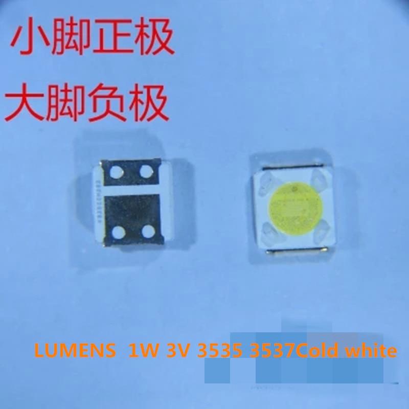 50Piece/lot for repair LUMENS D3GE-400SMB-R3 D2GE-320SC0-R3 D3GE-460SMA-R2 LED Backlight SMD LEDs 1W 3V 3535 3537 Cold white50Piece/lot for repair LUMENS D3GE-400SMB-R3 D2GE-320SC0-R3 D3GE-460SMA-R2 LED Backlight SMD LEDs 1W 3V 3535 3537 Cold white