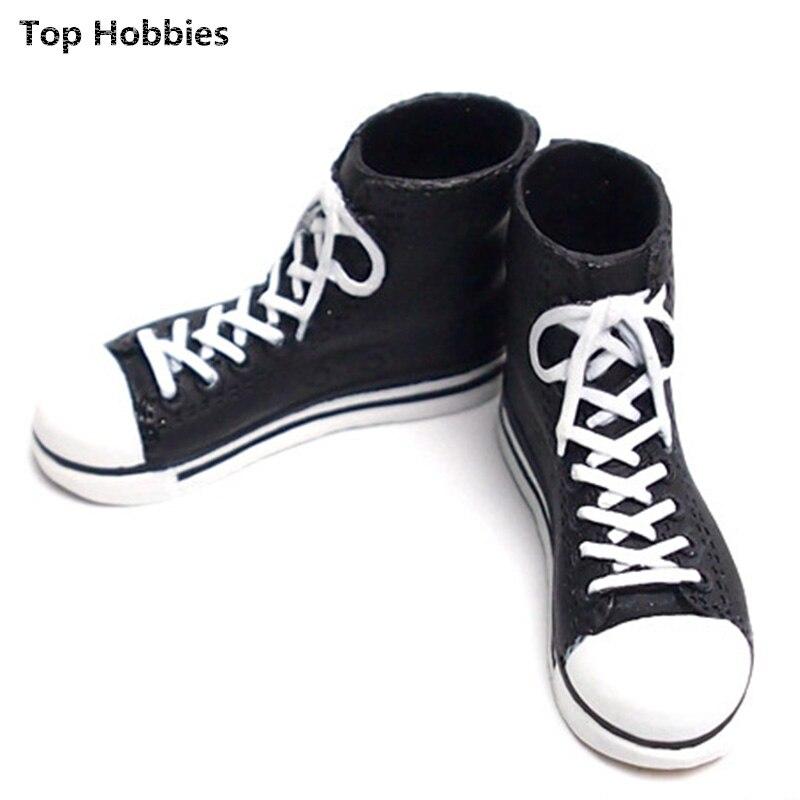 1/6 set model accessories The blue sneaker shoes canvas shoes The spot