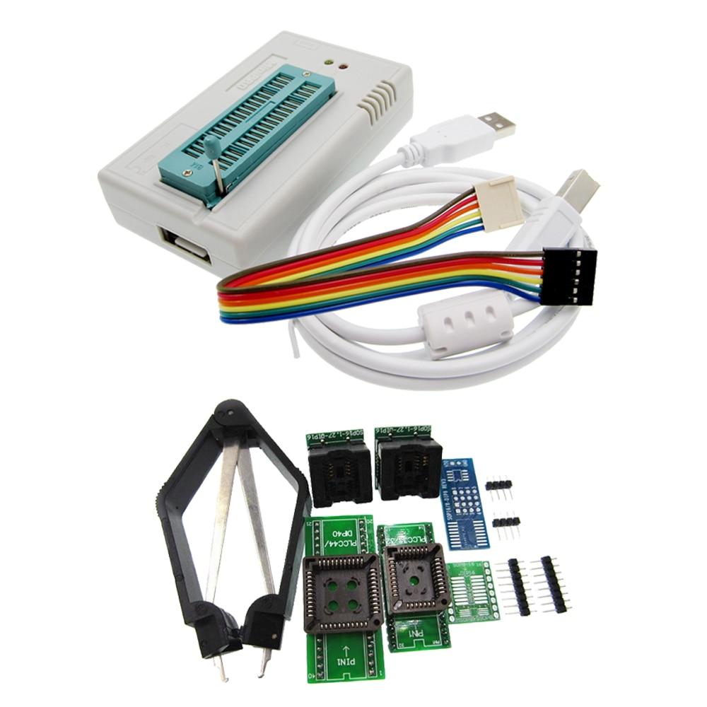 1set V7.05 TL866II Plus Programmer USB EPROM Nand FLASH BIOS EEPROM FLASH 8051 24 93 25 also have proman better than TL866A/CS newest v6 1 tl866cs programmer 21 adapters ic clip high speed tl866 avr pic bios 51 mcu flash eprom programmer