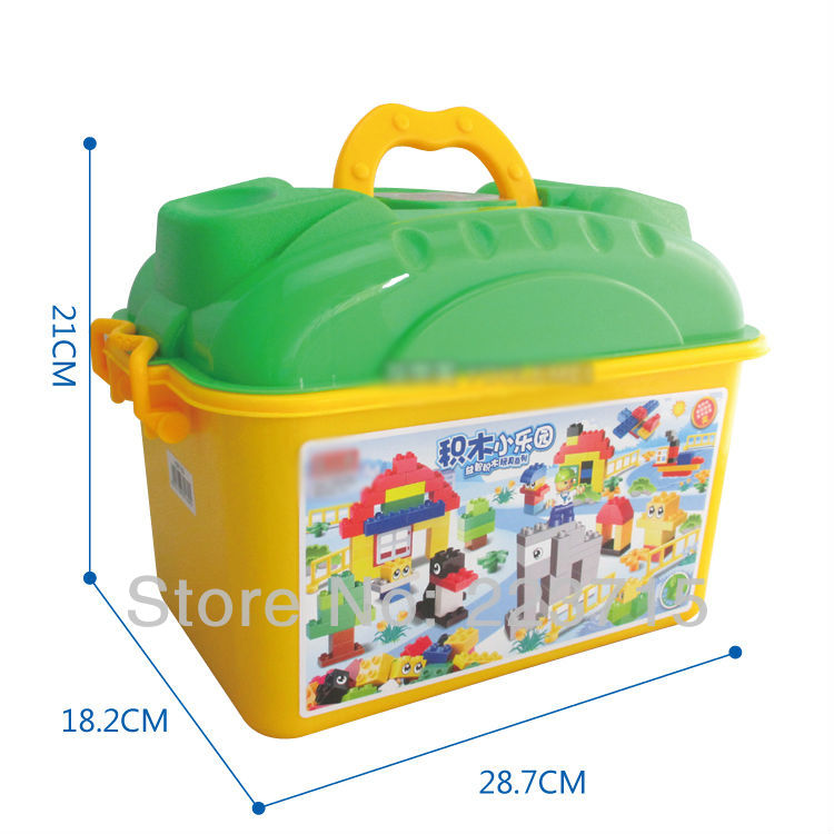 *Fun with Play Bucket* DIY enlighten block bricks,Compatible With Duplo Assembles Particles free shipping the tian an men diy enlighten block bricks compatible with other assembles particles