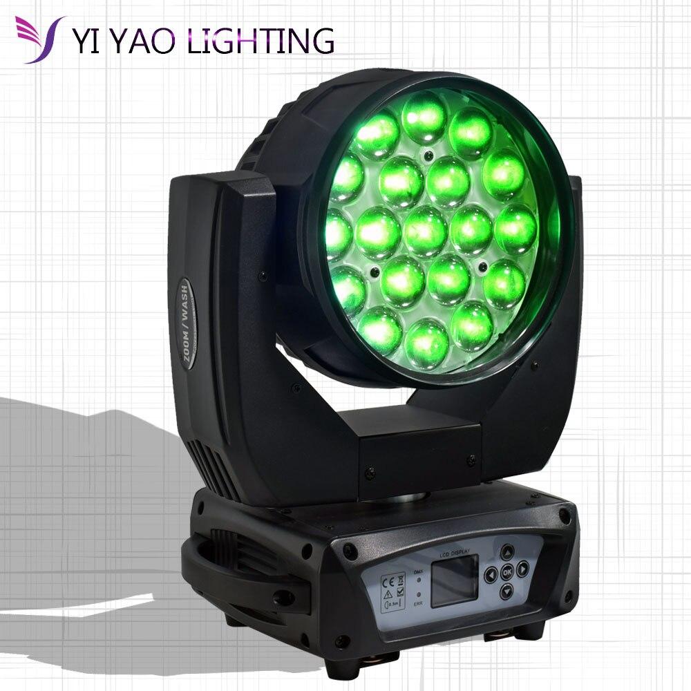Светодиодный светильник с движущейся головкой, 19x15 Вт, 4 в 1